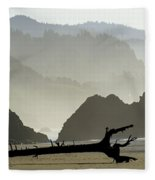 Oregon Coastal Beach Fleece Blanket