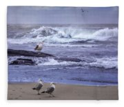 Oregon Coastal Morning Fleece Blanket