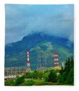 Oregon Columbia River - River View Fleece Blanket