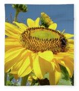 Oregon Gardens Silverton Sunflower Honeybee Baslee  Fleece Blanket