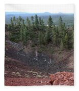 Oregon Landscape - Crater At Lava Butte Fleece Blanket