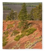 Oregon Landscape - Red Crater Fleece Blanket