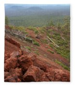 Oregon Landscape - Red Rocks At Lava Butte Fleece Blanket