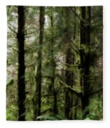 Oregon Old Growth Coastal Forest Fleece Blanket