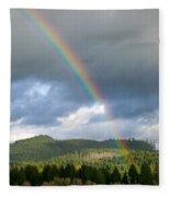Oregon Rainbow Fleece Blanket