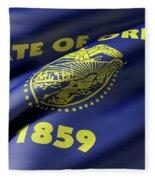 Oregon State Flag Fleece Blanket