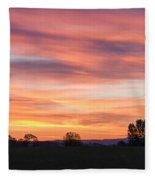 Oregon Sunrise Fleece Blanket