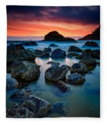 Oregon Sunset Fleece Blanket