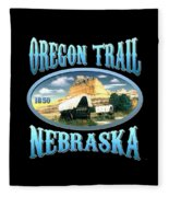 Oregon Trail Nebraska History Design Fleece Blanket
