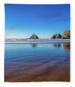 Oregons Rocky Coast Fleece Blanket