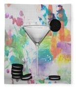 Oreo Happy Hour Watercolor Bg Fleece Blanket