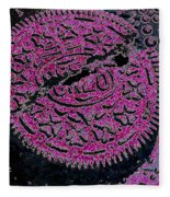 Oreo In Pink Fleece Blanket