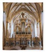 Organ Of The Gothic-baroque Church Of Maria Saal Fleece Blanket