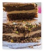 Organic Coffee And Pistachio Cake A Fleece Blanket