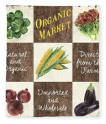 Organic Market Patch Fleece Blanket