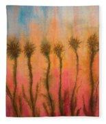 Organic Watercolor Art Fleece Blanket