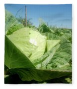 Organic White Cabbage  Fleece Blanket