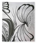 Organza Bloom Fleece Blanket