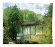 Orient - Bridge - Chinese Bridge  Fleece Blanket