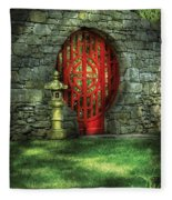 Orient - Door - The Moon Gate Fleece Blanket