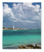 Orient Beach Catamaran Fleece Blanket