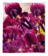 Oriental Orchid Garden Fleece Blanket