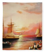 Oriental Sailor Chiefs Gathered For A Meeting On The Shores Of The Black Sea Fleece Blanket