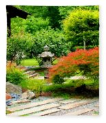 Oriental Scenic Fleece Blanket