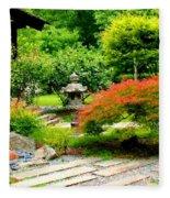 Oriental Scenic Fleece Blanket