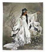 Oriental Sprinkle Fleece Blanket