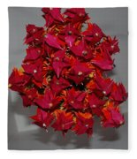Origami Flowers Fleece Blanket