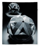 Origami Paper Sphere Fleece Blanket