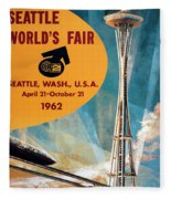 Original 1962 Seattle Worlds Fair Promotion Fleece Blanket