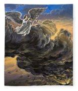 Fifth Trumpet Angel Fleece Blanket