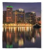 Orlando Sunrise Panorama Fleece Blanket