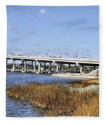 Ormond Beach Bridge Fleece Blanket