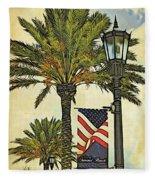 Ormond Beach Patriotic Fleece Blanket
