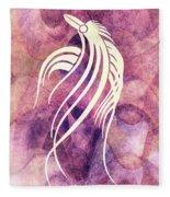 Ornamental Abstract Bird Minimalism Fleece Blanket