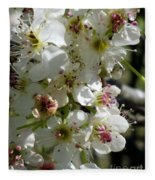 Ornamental Pear Fleece Blanket