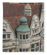 Ornately Oxford Fleece Blanket