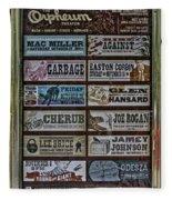 Orpheum Theater Playbill Fleece Blanket