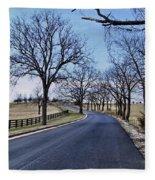 Osage County Road Fleece Blanket