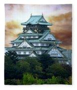 Osaka Castle Still Rules Japan Fleece Blanket
