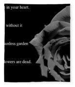 Oscar Wilde Love Quote Fleece Blanket