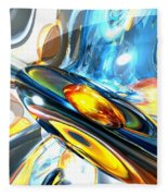 Oscillating Color Abstract Fleece Blanket