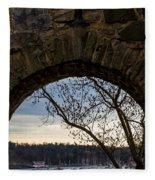 Oslo From Akershus Fortress Fleece Blanket