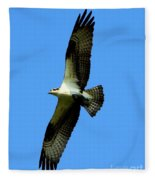 Osprey Carrying A Fish Fleece Blanket