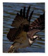 Osprey Catching A Fish Fleece Blanket