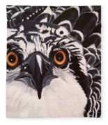 Osprey Eyes  Fleece Blanket