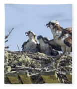 Osprey Family Portrait No. 2 Fleece Blanket